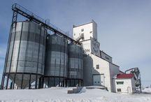 Elevadores de granos y silo