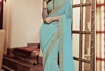 Georgette Bulk Designr Sarees Collection / It is generally accepted that wrapped sari-like garments for lower body and sometimes shawls or scarf like garment called 'uttariya' for upper body, have been worn by Indian women for a long time, and that they have been worn in their current form for hundreds of years. In ancient couture the lower garment was called 'nivi' or 'nivi bandha', while the upper body was mostly left bare. The works of Kalidasa mentions 'Kurpasika' a form of tight fitting breast band that simply covered the breasts.