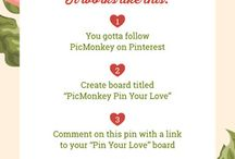 Pin Your Love / Pic Monkey Pin Board / by Deb Wolf