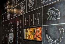 Restaurant interior graphics