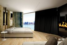 The material language of the contemporary luxury / Hotel room interior, luxury hotel interior, luxury interior design, modern hotel furniture