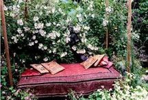 Gardens: Garden Therapy / What delight in coming across a hidden nook or secret garden.  Be inspired to delight your visitors by inventing your own little hideaway where you take the time out to relax and meditate.