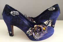 Halloween and gothic themed shoes / Shoes with a halloween or gothic twist. All custom designed.