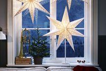 julestjerner med lys