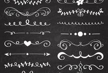 doodles, dividers, lettering