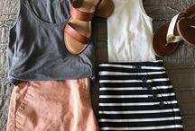 Jen's Closet, Chinos, Colorful Shorts and Tanks