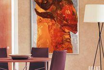 Orange Abstract Art / 0
