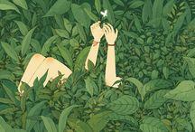 nature & human illustrations
