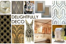KKDL TRENDWATCH 2016: DELIGHTFULLY DECO / And you thought the Roaring 20's were behind us. Art deco inspired and crafted tile adorned, Delightfully Deco is a style that adds instant elegance and dimension to any room or space. The cane-like consistency and high gloss finish of deco inspired tiles can create a statement in the bathroom or an intricate detail in the kitchen. This trend adds a boost to minimalist décor or serves as a focal point for a room completely inspired by Delightfully Deco. / by Kerrie Kelly Design Lab