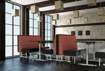 Booths / Mobile booths, fixed booths, banquettes and convertible bench tables to create your dining, lounge or social space.