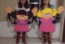 bambole cartoncino