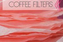 Filtros de café / by Postres y Decoraciòn Juana Alvaro R.