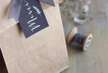 Tarjetas, etiquetas, bolsas de papel...