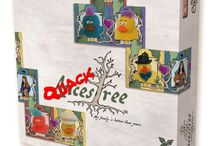 The Ducks Take Over Calliope Games Booth 1901 at Gen Con 2018 / Calliope Games Box Covers With Rubber Duckies Added
