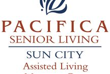 Sun City Senior Living / An Assisted Living and Memory Care Community in Sun City Center.  Welcome to Pacifica Senior Living Sun City, our beautiful, safe, and friendly community of quality caregivers, well trained professionals, and most importantly, satisfied residents. Located near the greater Tampa Bay Area, Pacifica Senior Living Sun City offers a full spectrum of assisted living and memory care services administered by a specifically trained, caring, and experienced staff.