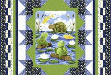 Quilts using printed panel