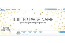 Twitter Covers / Giver your Twitter profile a professional, stylish look.