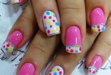 Polka Dots Nail Art / by Rose Stumbaugh