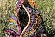 Paper Basket Weaving / Knitting / Paper Basket Weaving / Knitting and connected