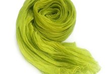Gobge Natural Dyeing Soft Feel Silk Shawl Scarf  ( Light green )