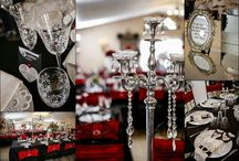 My Red and black crystal wedding