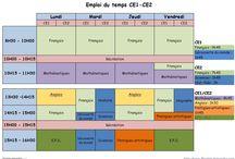 préparations de classe Ce1-Ce2 / by Caroline Deloignon