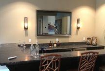 Bar Area & Wine Cellar lighting / Beautiful Bar Area & Wine Cellars Featuring Hubbardton Forge Lighting