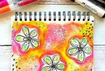 Faber Castell Fun / Mixed media projects using Faber Castell products
