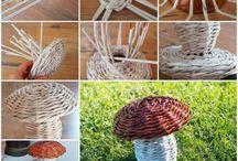 dekorace - pletení z papíru