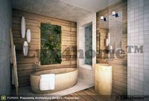 Projekty łazienek / Projekty łazienek z wykorzystaniem kamienia naturalnego. Znajdziemy w nich umywalki z kamienia Lux4home™, wanny z kamienia, mozaiki kamienne, otoczaki.