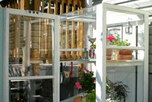 Greenhouses and garden sheds / by Suzanne Talbot
