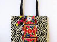 India Inspired handbags and purses / Handbag | bag | purse | India | India Inspired | Indian design | Indian colour | floral design | pom pom