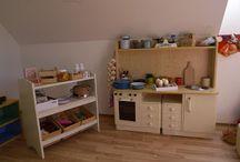 Kitchen and work bench for children