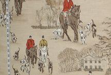 toile horse fabric