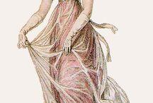 Regency net and overdress