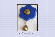 Cold porcelain jewellry / Hand made cold porcelain clay jewelry.