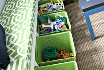 Storage Options / With the ever-increasing amount of stuff that kids accumulate, I am always in search of creative storage options!