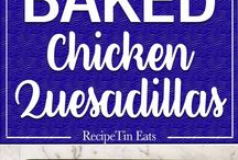 quesadillas / Yummy recipes to use at anytime and also very satisfying to look at.
