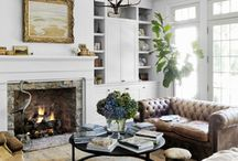 lake cottage living room / lake cottage living room decorating ideas and furniture arrangements / by Julie Blanner