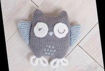 doudou chouette en tricot