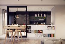 Kitchen&dining&bookcafe