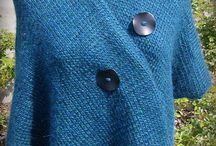 sjal med knapper