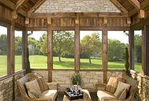 sunroom/screened porch/porch swings