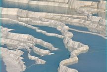 Beautiful Pictures of Pamukkale, Turkey / Pamukkale is located in Denizli Province in Turkey famous with its hot springs and travertines, terraces of carbonate minerals left by the flowing water. The major economy comes from tourism, people have bathed in its pools for years. It is declared as the world heritage site. Check out these beautiful pictures of Pamukkale, Turkey.