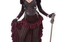 Steampunk / Een stoer en sexy steampunk kostuum voor dames. Steampunk is een subgenre van fantasie of speculatieve fictie. De term verwijst naar de verhalen die zich afspelen in een tijd dat stoomkracht nog de primaire krachtbron was.