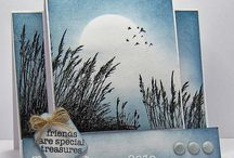 Cards - Stampscapes, Sponging & Scenery