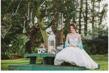 NWB Photo Shoots / 'Something Blue' - A Rustic, Garden Party Bridal Photo shoot from North-West Brides Summer 2014 edition