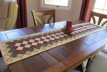 Table Runners/Toppers Mug Rugs/Coasters / by AZ June
