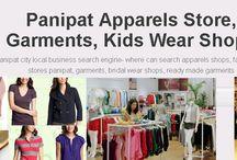 Panipat Apparels Store, Garments, Kids Wear Shops / Panipat city local business search engine- where can search apparels shops, family wear stores panipat, garments, bridal wear shops, ready made garments