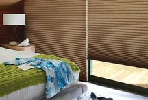 Duette Shades by Hunter Douglas. / The original single- and double-honeycomb Duette® shades come in multiple cell sizes, a horizontal or Vertiglide™ vertical orientation, and a range of light-control options from sheer to opaque.